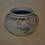 Thumbnail: Rookwood vellum, squat vase w/ floral decoration