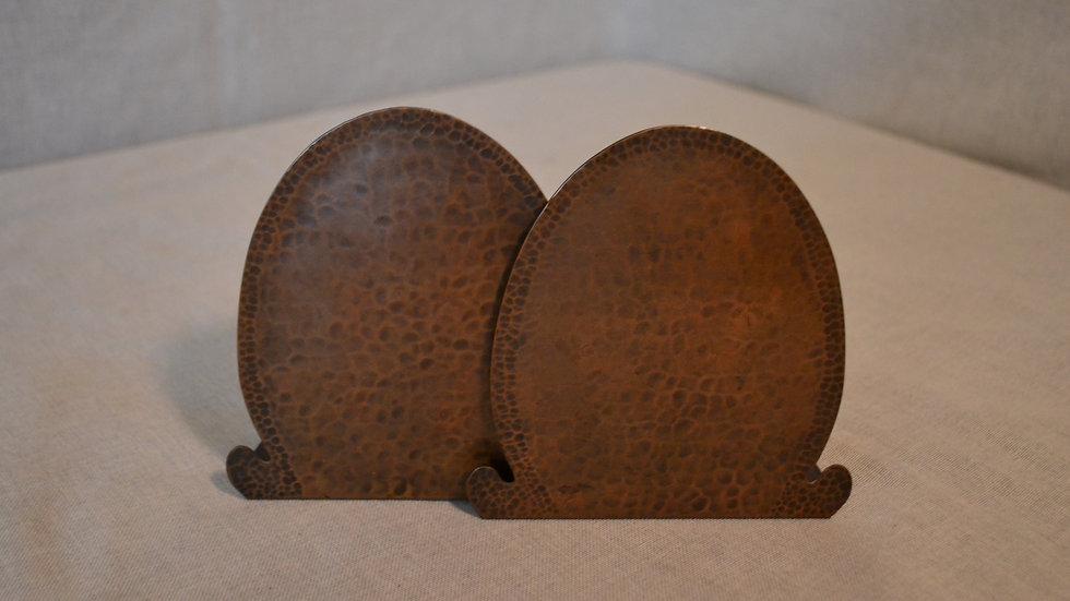 Dirk Van Erp  Bookends, pair,  hammered copper, original patina