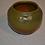 Thumbnail: Van Briggle Squat Vase,  Matte green & brown
