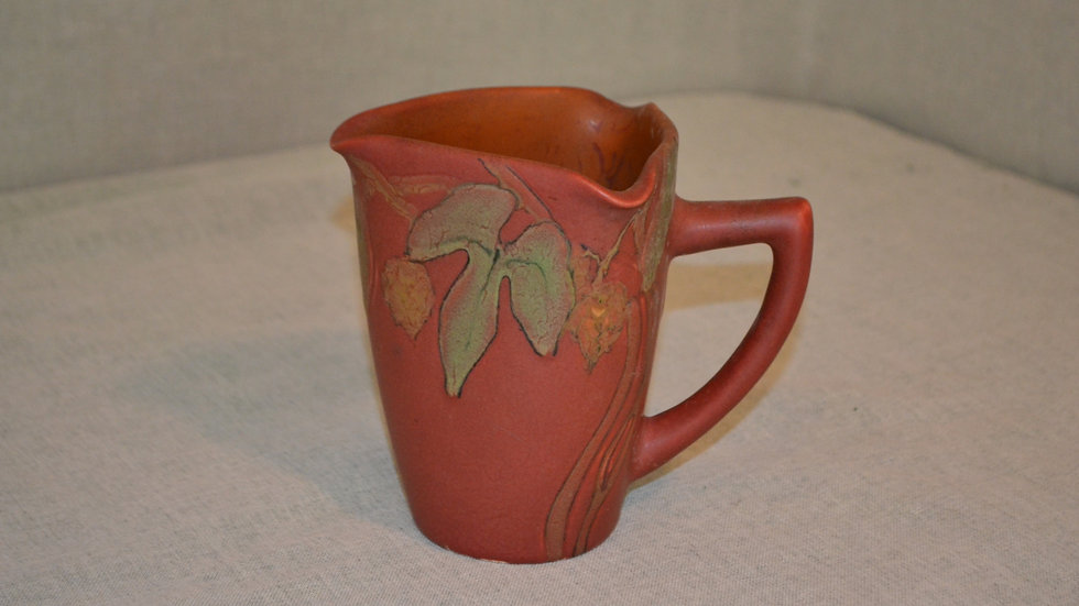 Rookwood,  small pitcher, carved & incised mat with black outline