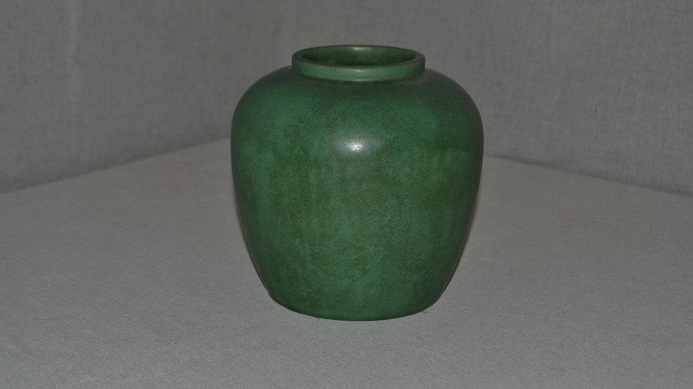 Teco vase,  w great glaze & charcoaling