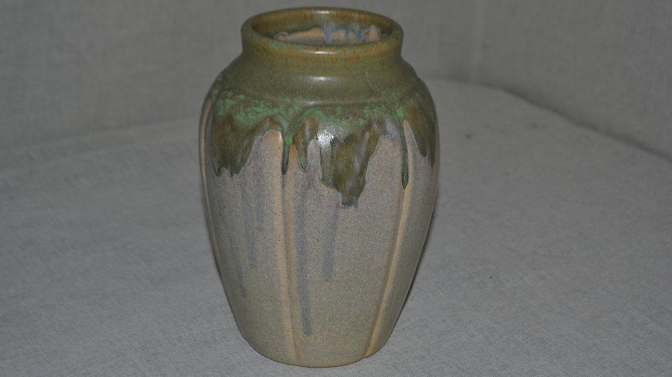 Zanesville Stoneware vase,  experimental glaze