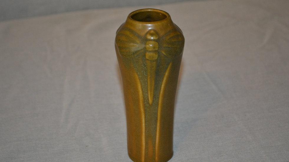 Van Briggle vase w/ Dragonfly motif