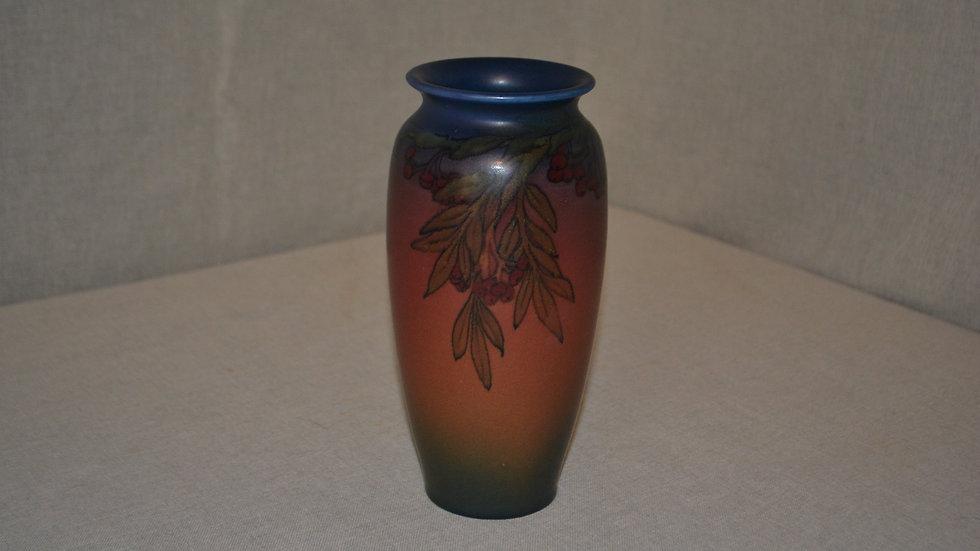 Rookwood matte vase. Leaves and Berries, Elizabeth Lincoln