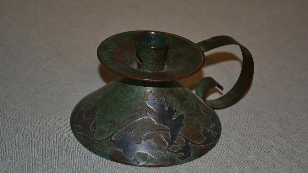 Heintz  candleholder  early  verdigris patina