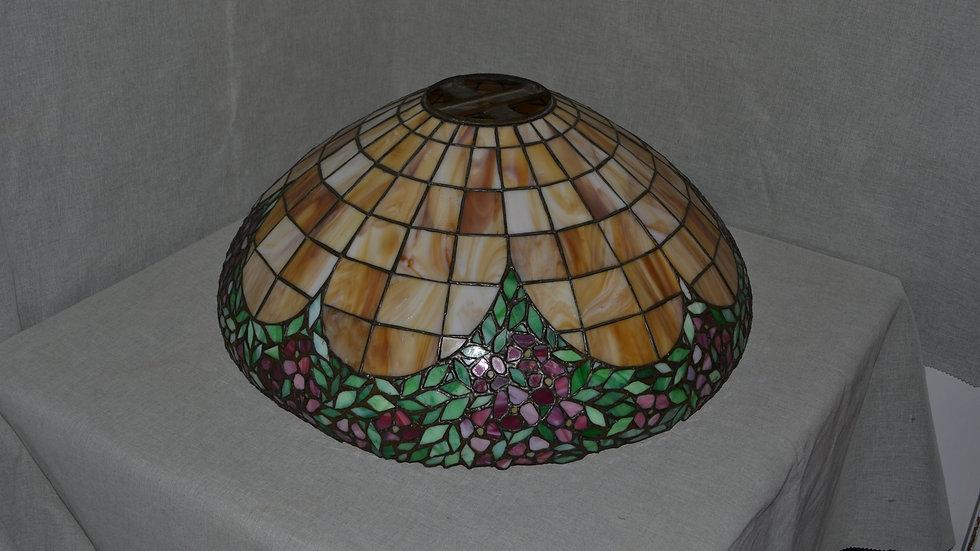 Unique Art Glass leaded glass shade