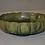 Thumbnail: Fulper, footed bowl,  green glaze