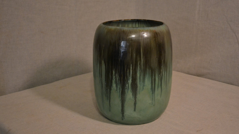Fulper vase, early and large cylinder form