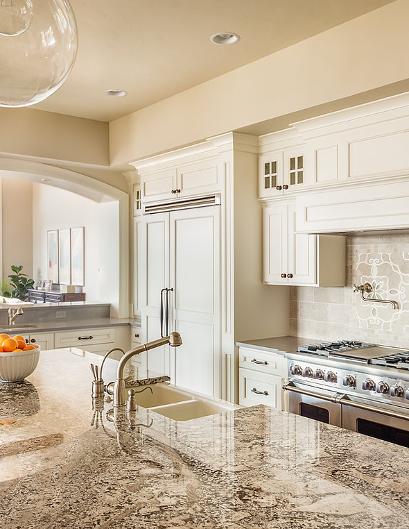 Beautiful New Kitchen Interior with Isla