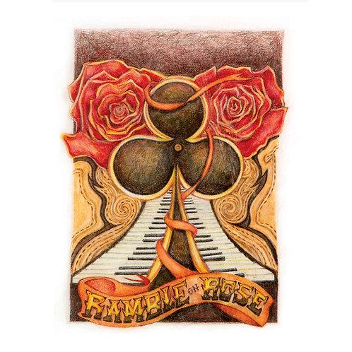 Ramble on Rose Greeting Card