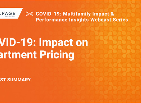 COVID-19: Impact on Apartment Pricing (Webcast Summary)
