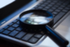 Selective focus on keyboard with magnifi