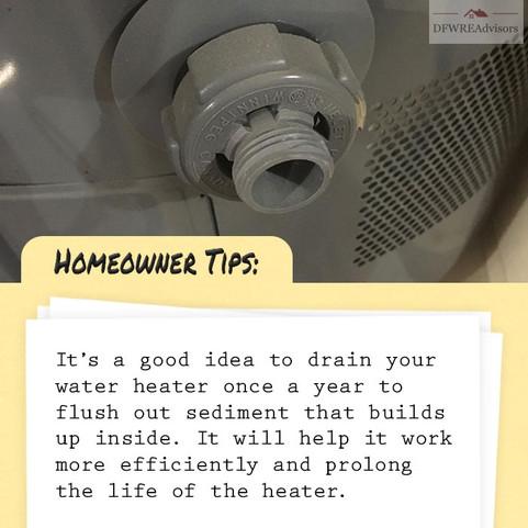 Flush Hot Water Heater