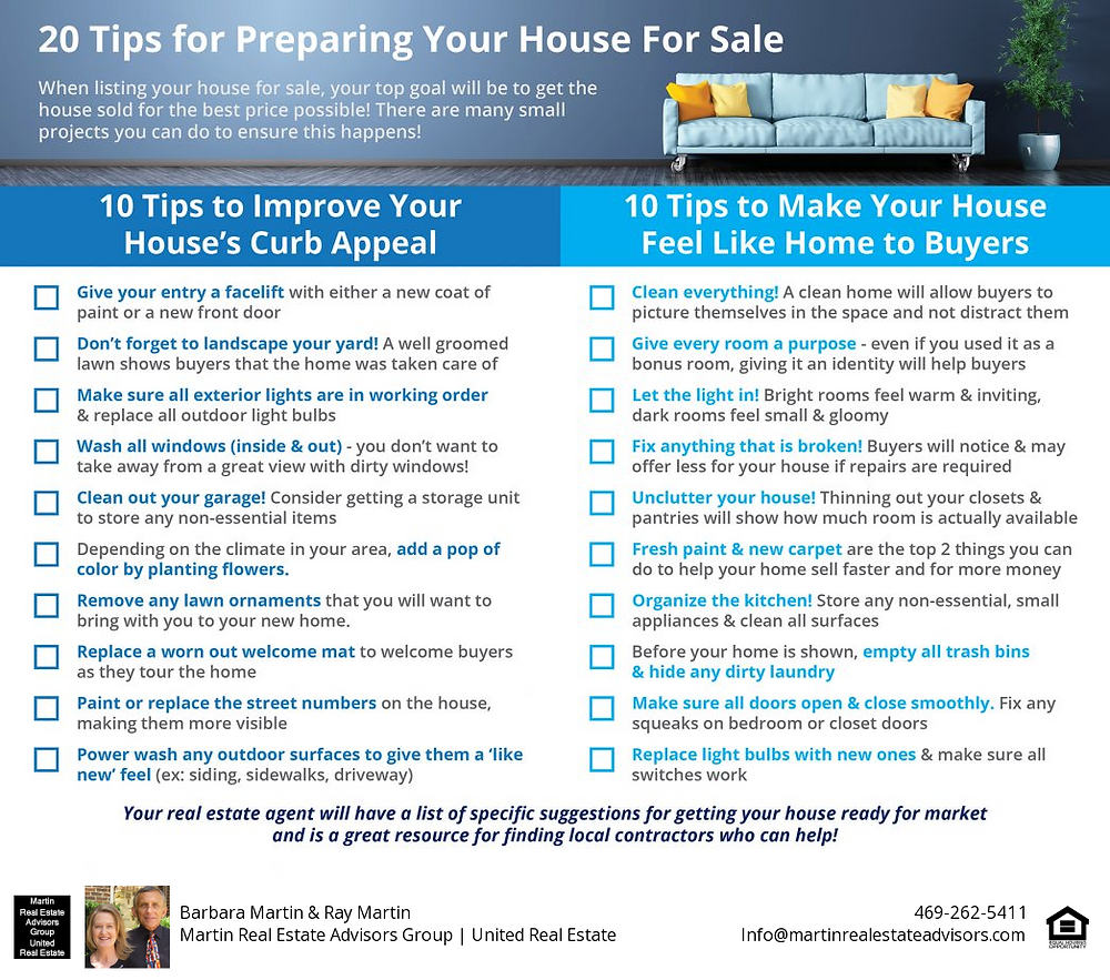 20 Tips for Getting Your Home Ready to Sell