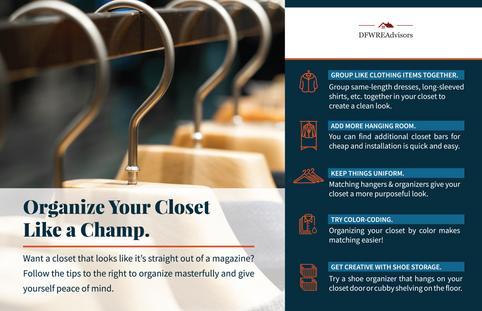 Organize Your Closet Tip