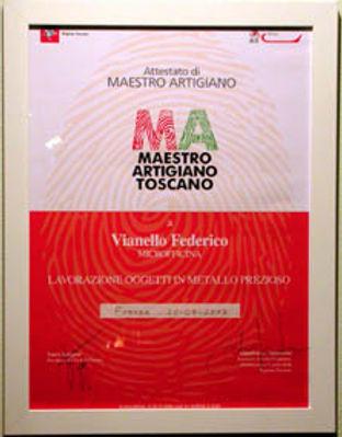 MICROFFICINA Federico Vianello Maestro orafo Firenze
