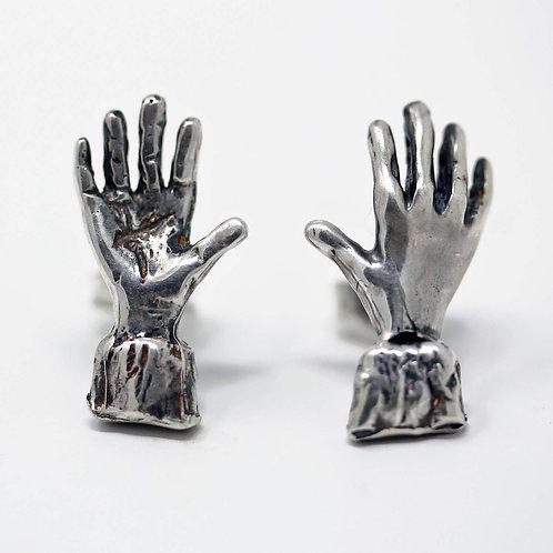 Orecchino singolo in argento. Microfficina gioielli artigianali vendita online