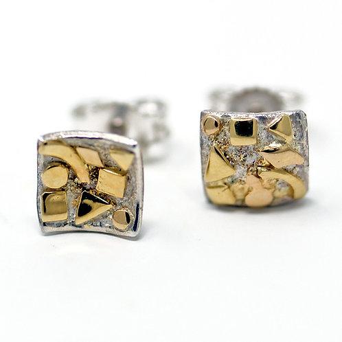 Orecchini in oro e argento. Gioielli particolari shop online.