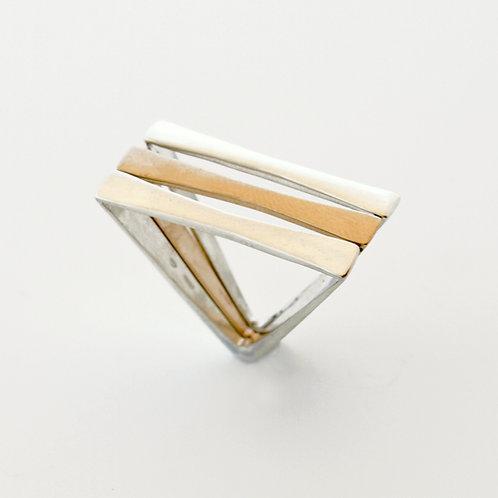 Anello in argento e bronzo. Gioielli Firenze Shop online