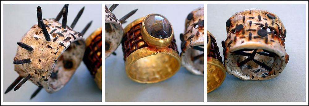 Microfficina Gioielli artigianali contemporanei. Anello mancante e coppia di fedi