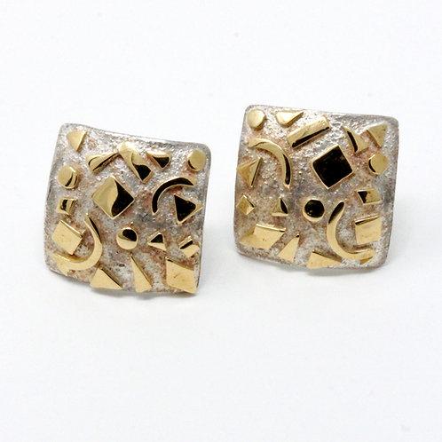 Orecchini in oro e argento. Gioielli Firenze shop online