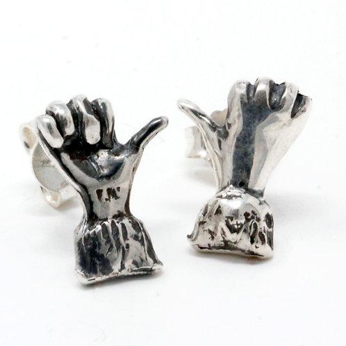 Orecchino in argento. Gioielli artigianali Firenze vendita online.