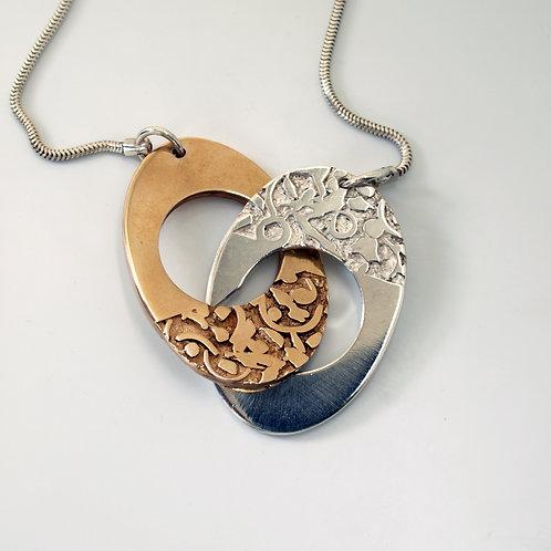 Pendente in argento e bronzo. Gioielli Firenze Shop online