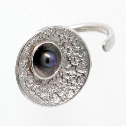 Anello in argento perla coltivata. Microfficina shop online