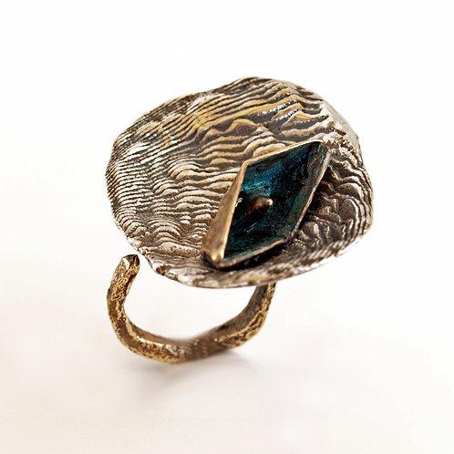 Anello in argento e bronzo. Vendita online