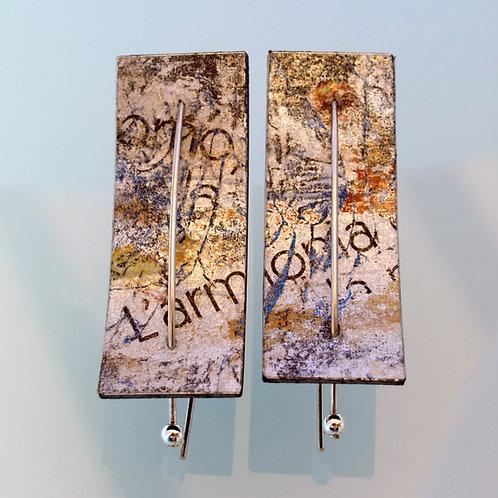 Orecchini in argento e plastica. Gioielli Firenze negozio online