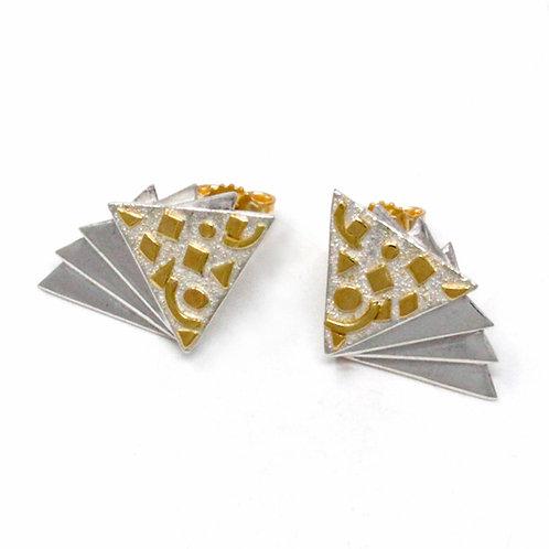 Orecchini in oro e argento. Gioielli Firenze negozio online