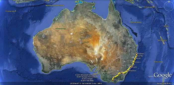 Седьмое велопутешествие по Австралии по маршруту Мельбурн - Канберра - Сидней – Голд Кост (2011 г.)