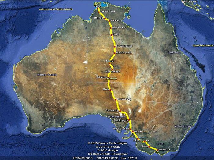 Шестое велопутешествие по Австралии  по маршруту Melbourne – Port Augusta - Darwin (2010 г.)