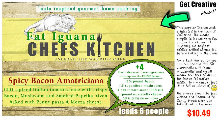 Fat Iguana front - Amatriciana - website