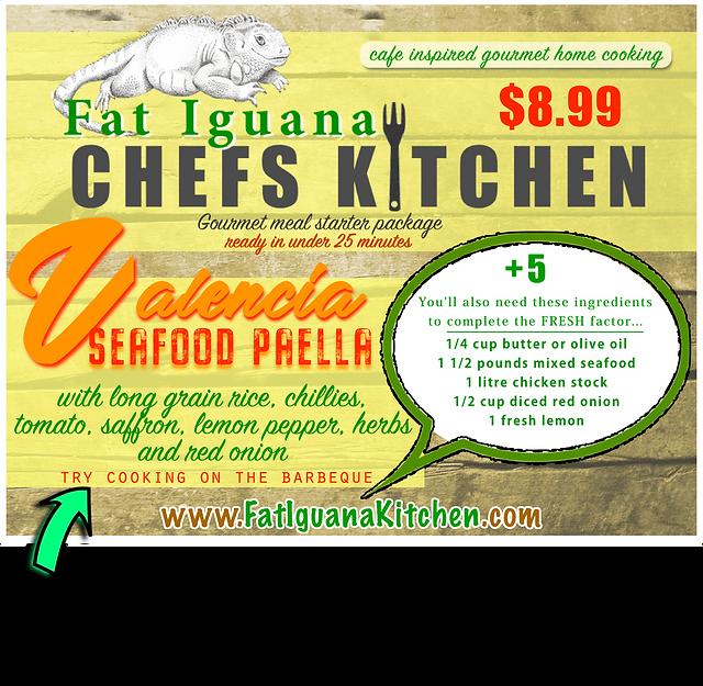 Valencia Seafood Paella - website descri