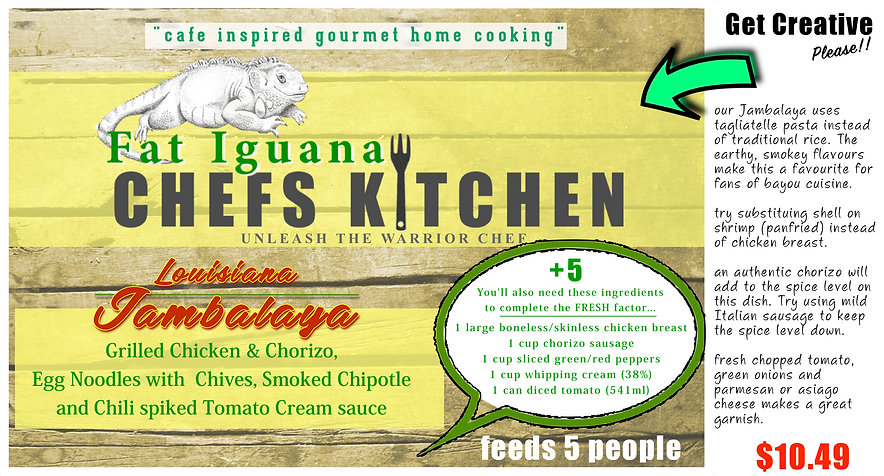 Fat Iguana front - Louisiana Jambalaya -