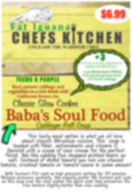 Baba's Soul Food - website description c