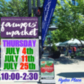 Hydro Place Market - July website dates.
