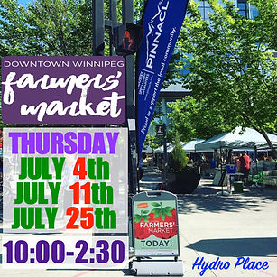 Hydro Place Market - July website dates.