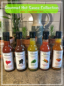 Hot sauce Collection  - website image  .