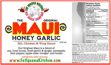 MAUI Honey Garlic - Bottle Label - 2020