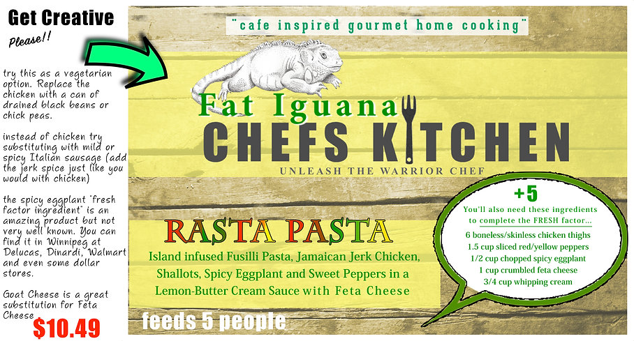 Fat Iguana front - Rasta Pasta - website