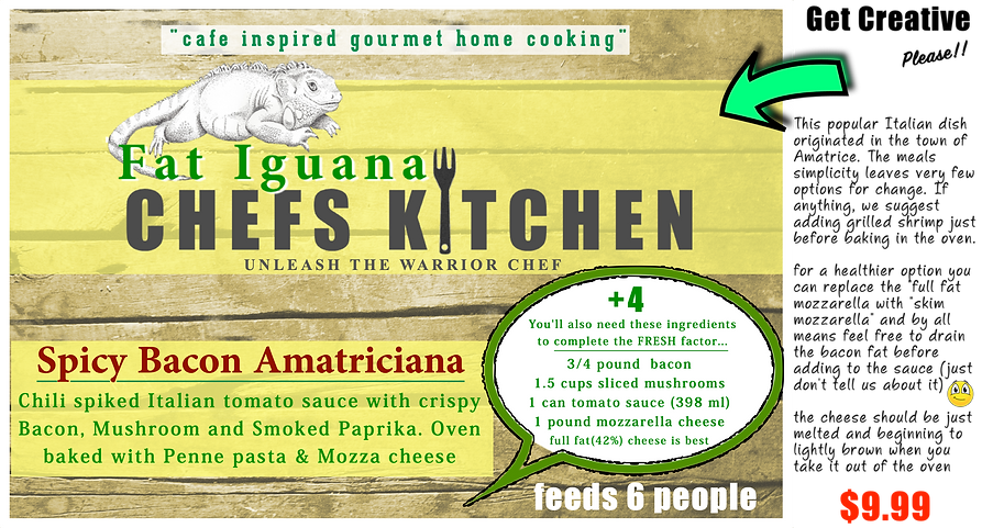 Fat Iguana front - Amatriciana - website