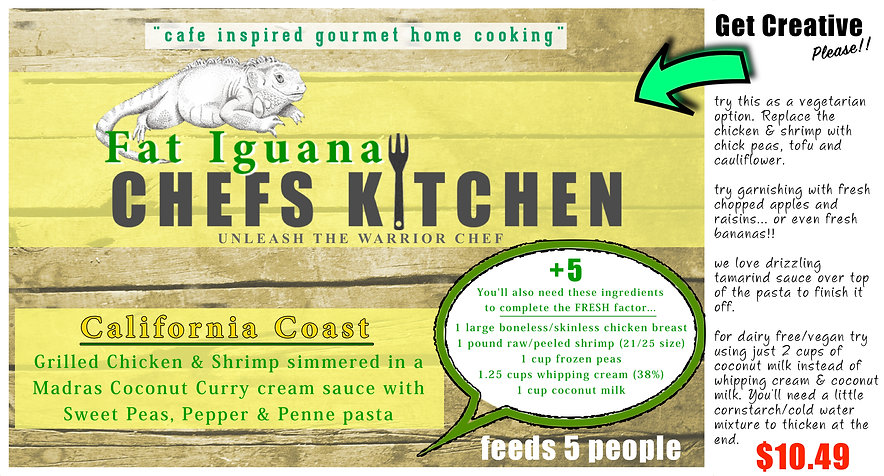 Fat Iguana front - California Coast - we