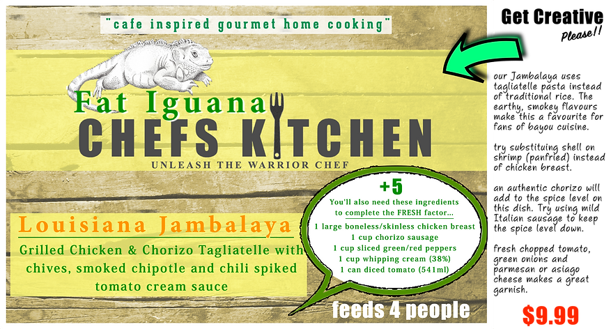 Fat Iguana front - Louisiana Jambalaya -