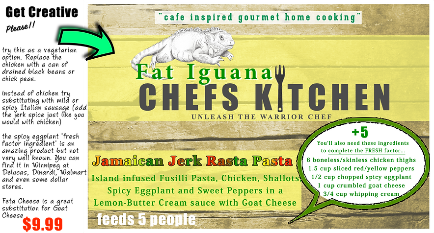 Fat Iguana front - Rasta Pasta - website