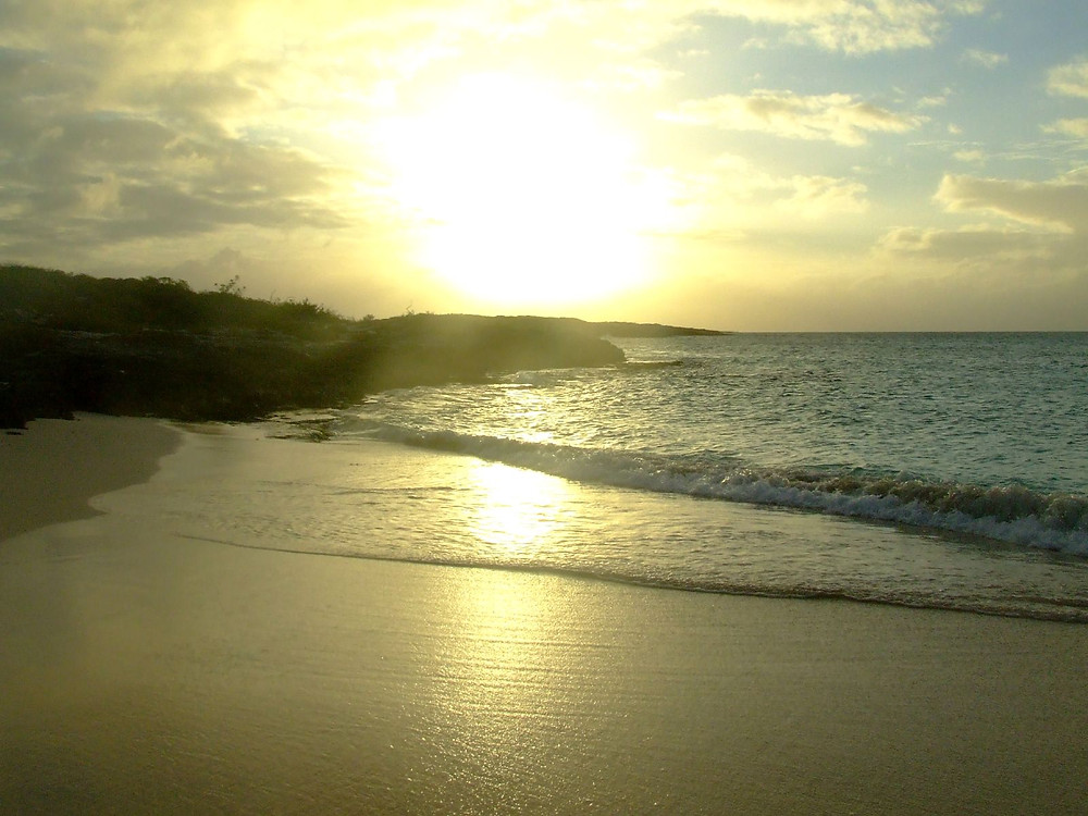 The fruits of sailing around the world: sunset in Anguilla