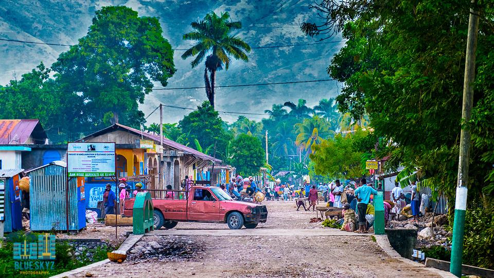 Maniche, Haiti--a small village in the mountains