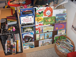 Shelf with early childhood books