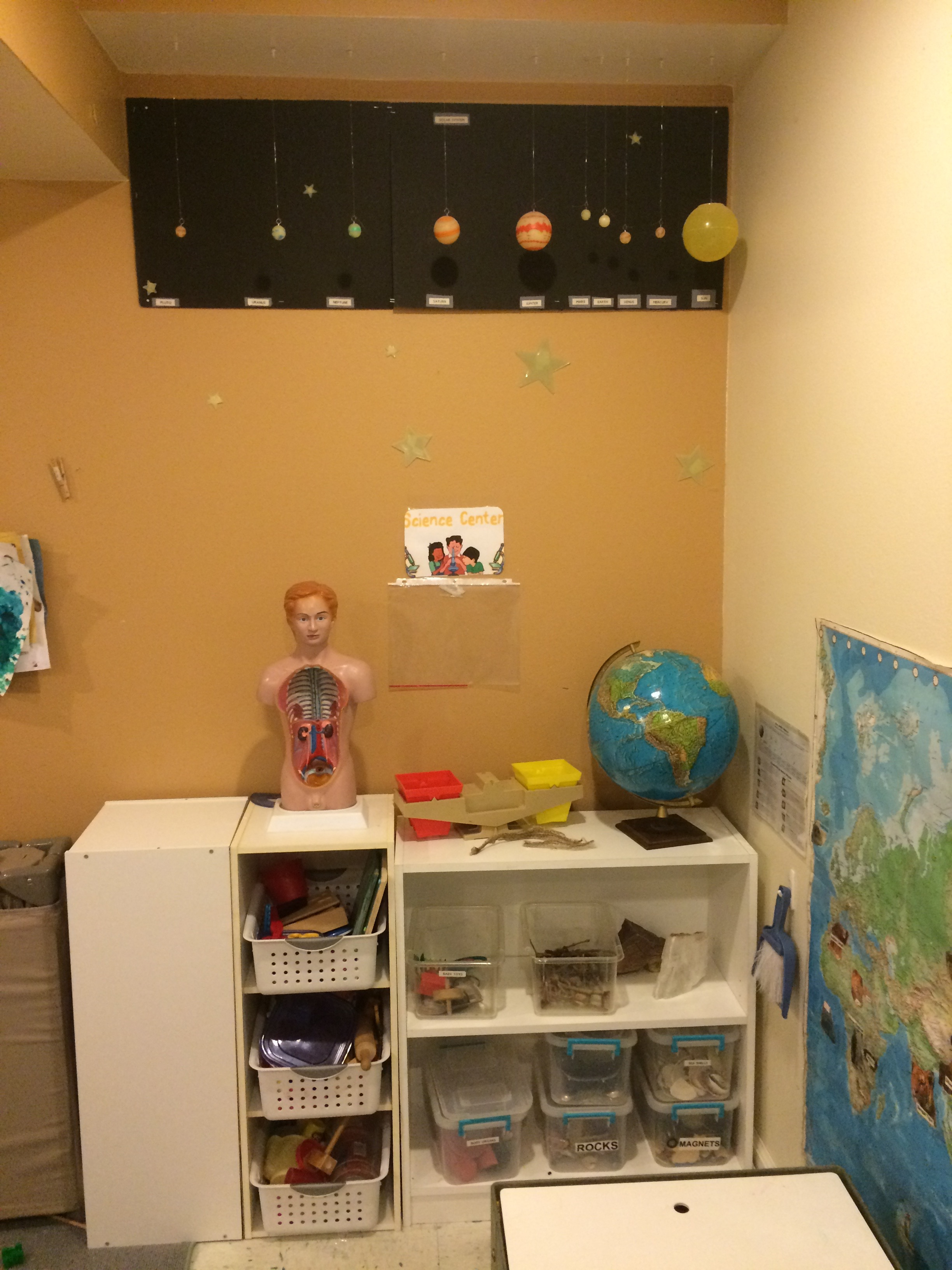Early childhood science area